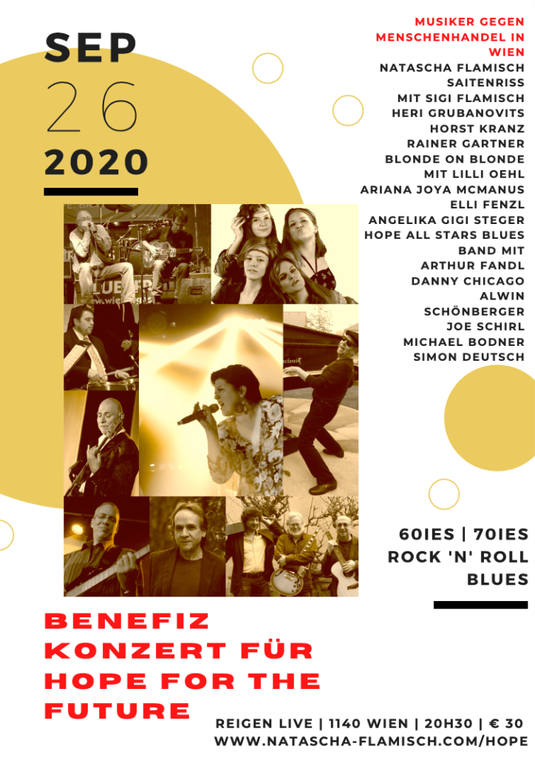 Benefizkonzert HOPE FOR THE FUTURE 26.9.2020 – 60ies, 70ies, Rock 'n' Roll, Blues
